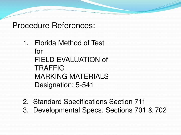 Procedure References: