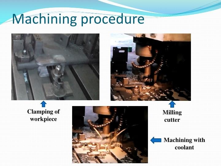 Machining procedure