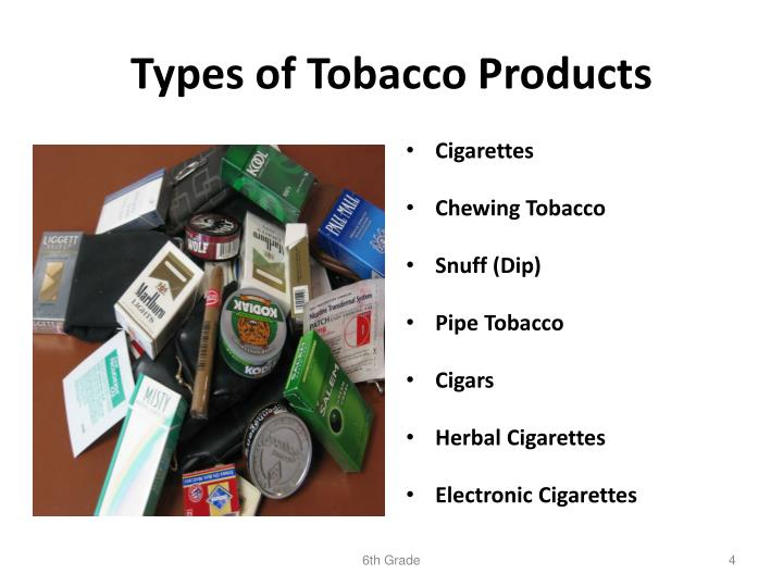 Types of Tobacco Products