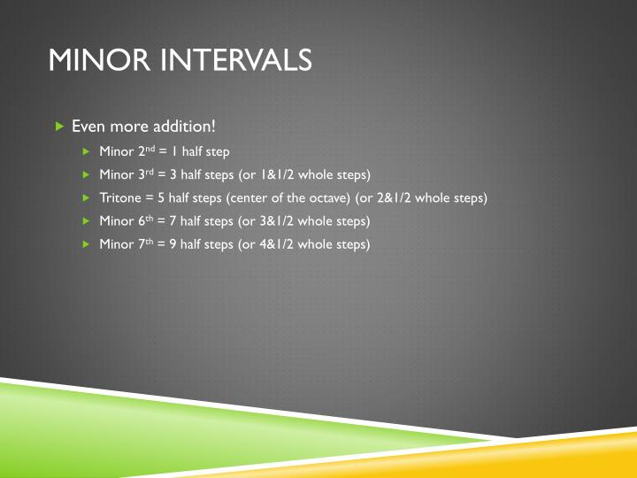 Minor Intervals