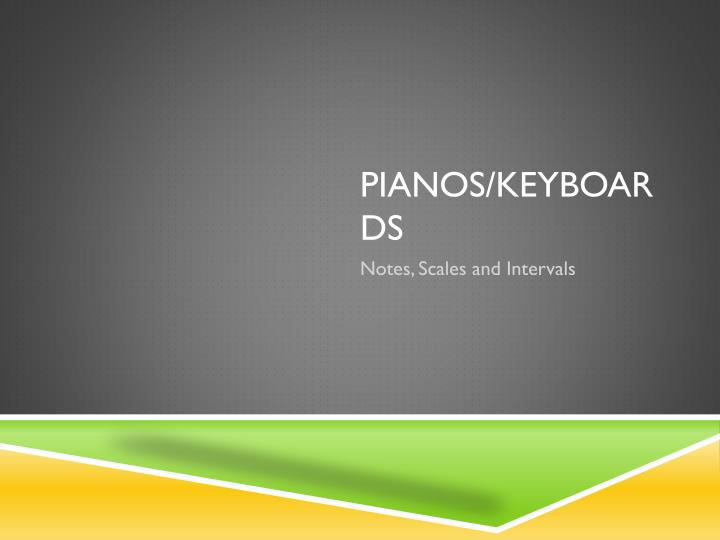 Pianos keyboards