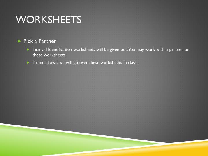 Worksheets