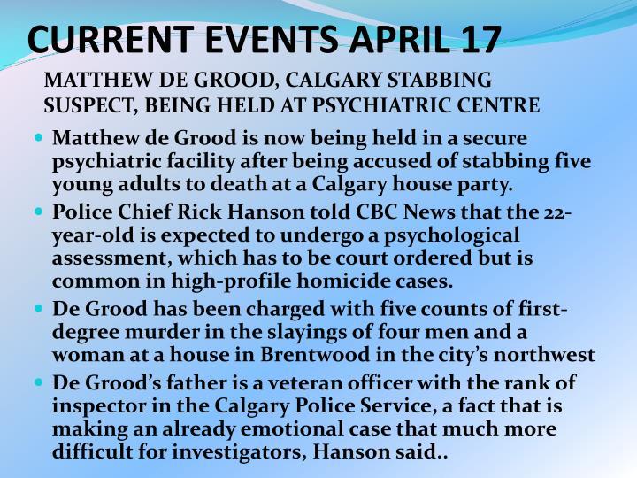 CURRENT EVENTS APRIL 17