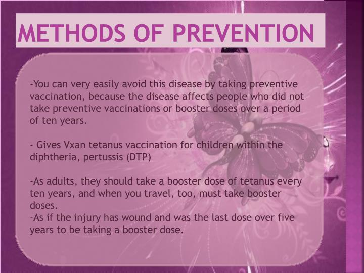 Methods of prevention