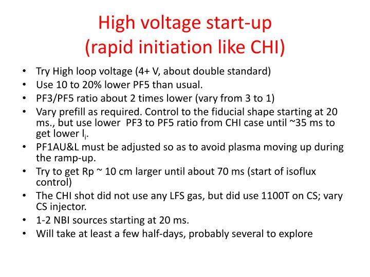 High voltage start-up