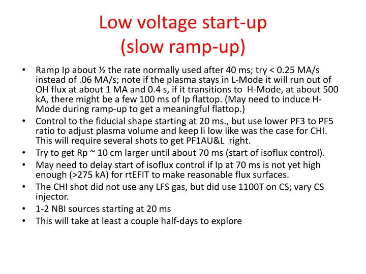 Low voltage start-up