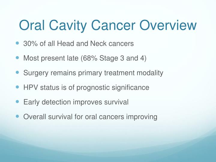 Oral cavity cancer overview