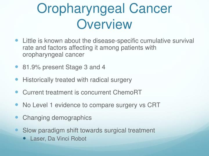 Oropharyngeal Cancer Overview