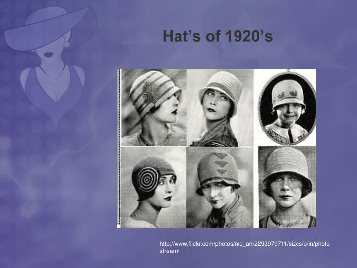 Hat's of 1920's