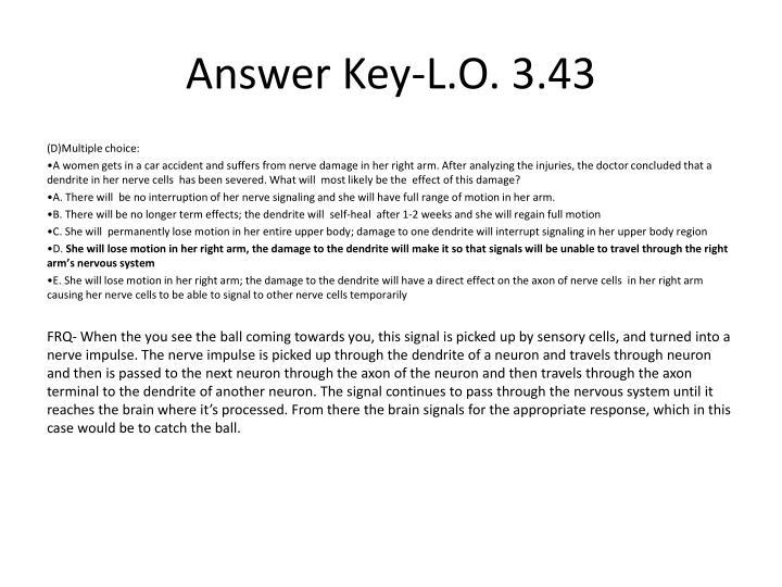 Answer Key-L.O. 3.43
