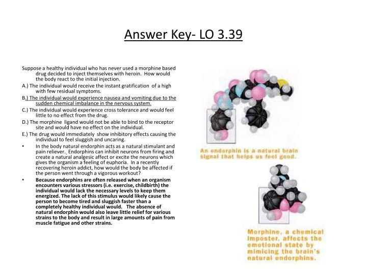 Answer Key- LO 3.39