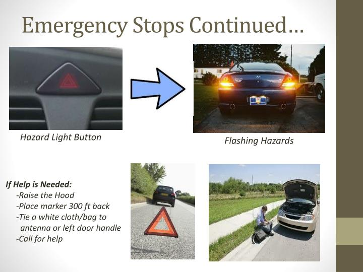 Emergency Stops Continued…