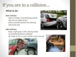 if you are in a collision
