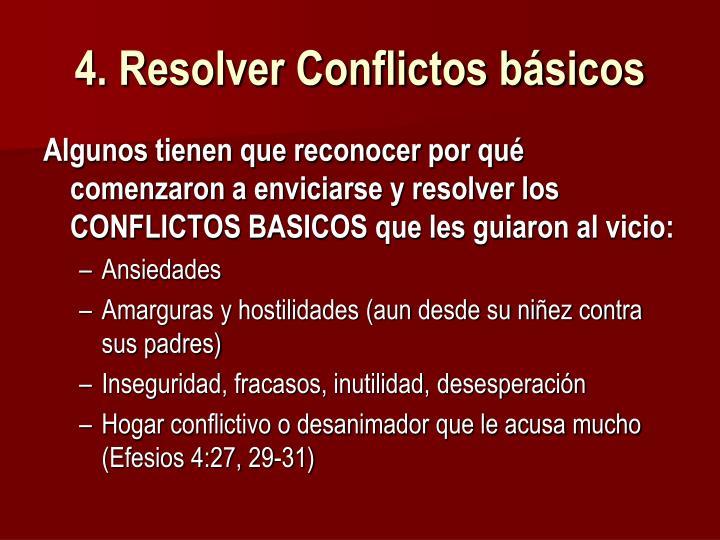 4. Resolver Conflictos básicos