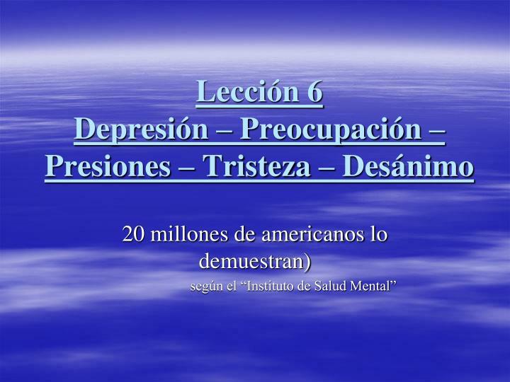 Lección 6