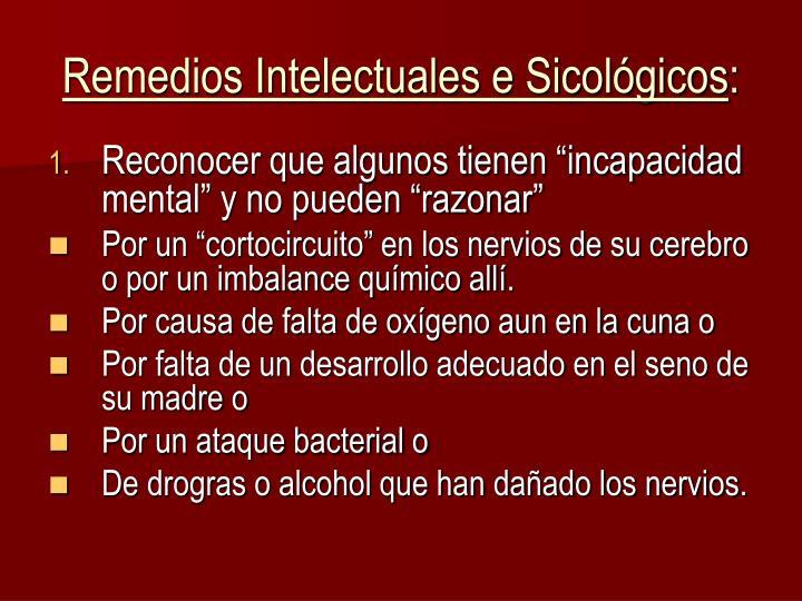 Remedios Intelectuales e Sicológicos
