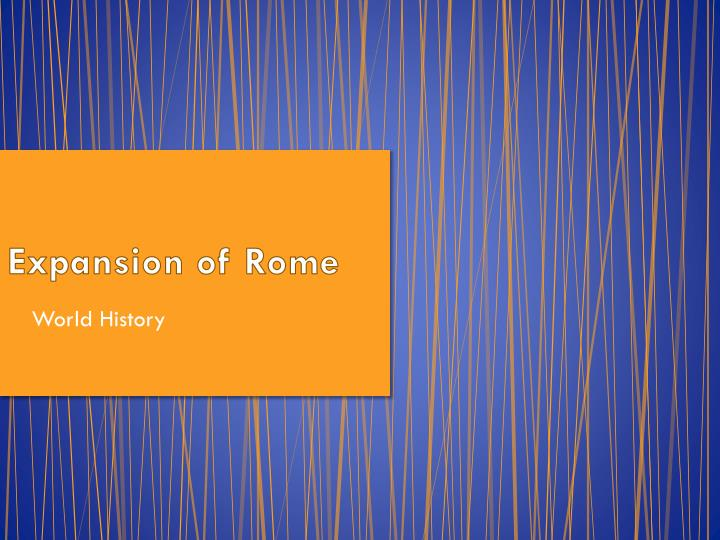 Expansion of rome
