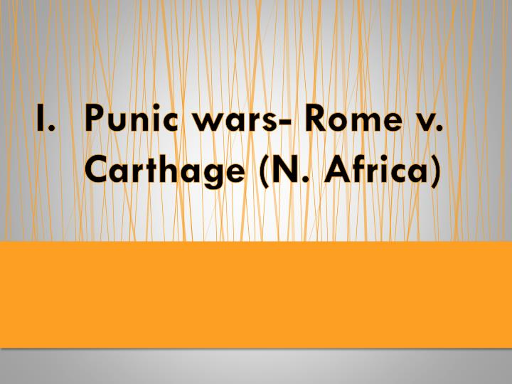 Punic wars rome v carthage n africa