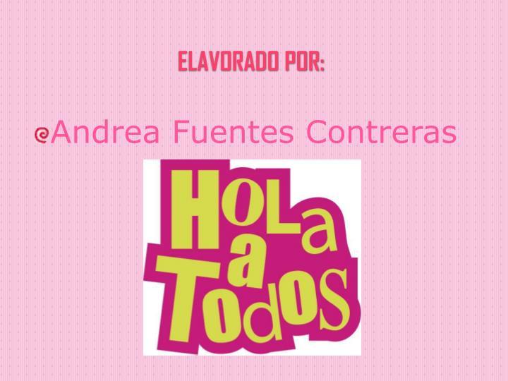Andrea Fuentes Contreras