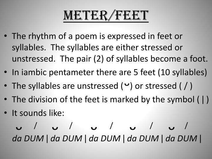 Meter/feet