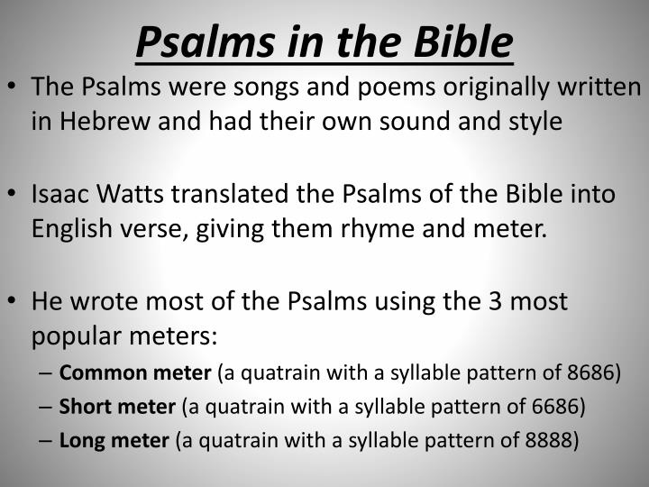 Psalms in the Bible