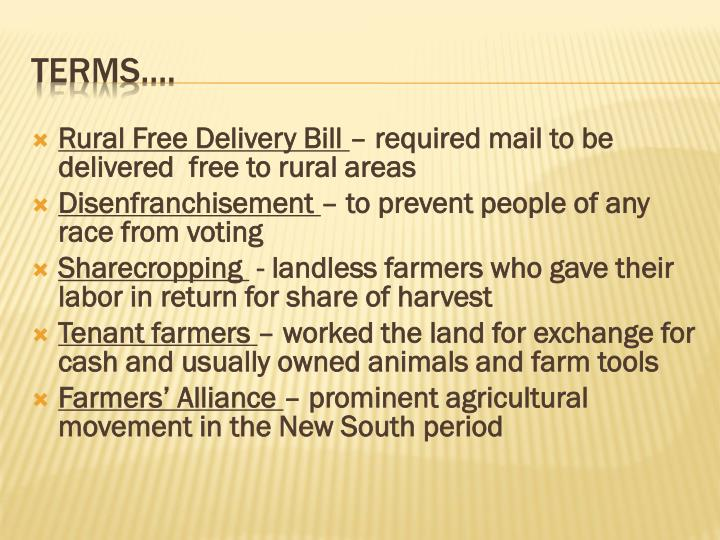 Rural Free Delivery Bill
