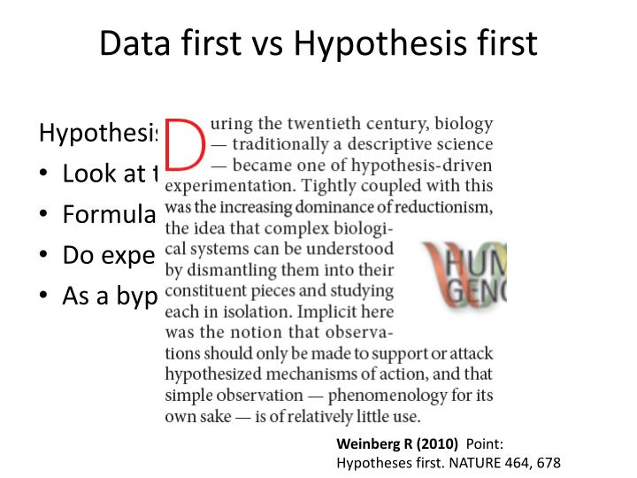 Data first vs hypothesis first1