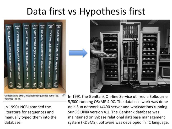Data first