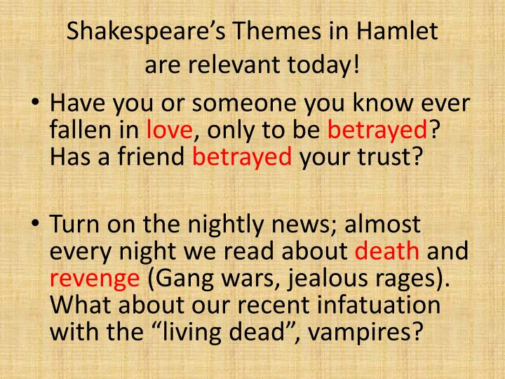 Shakespeare's Themes in Hamlet