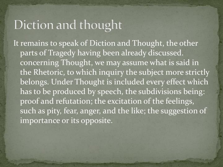 Diction and thought