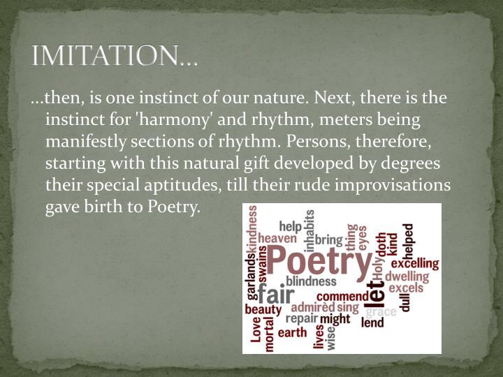 IMITATION...