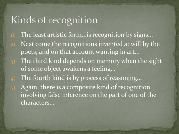 Kinds of recognition