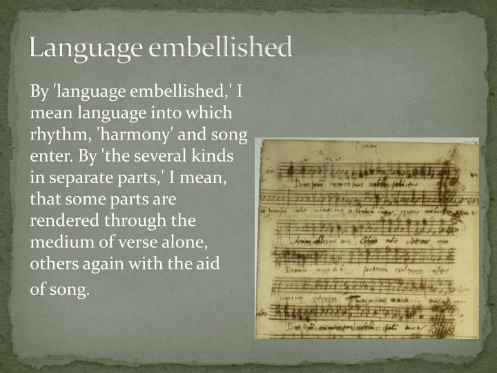 Language embellished