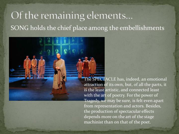 Of the remaining elements...