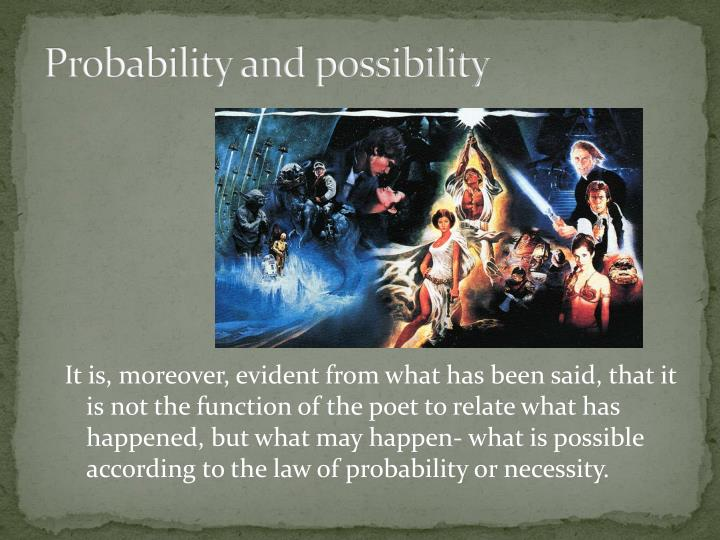 Probability and possibility