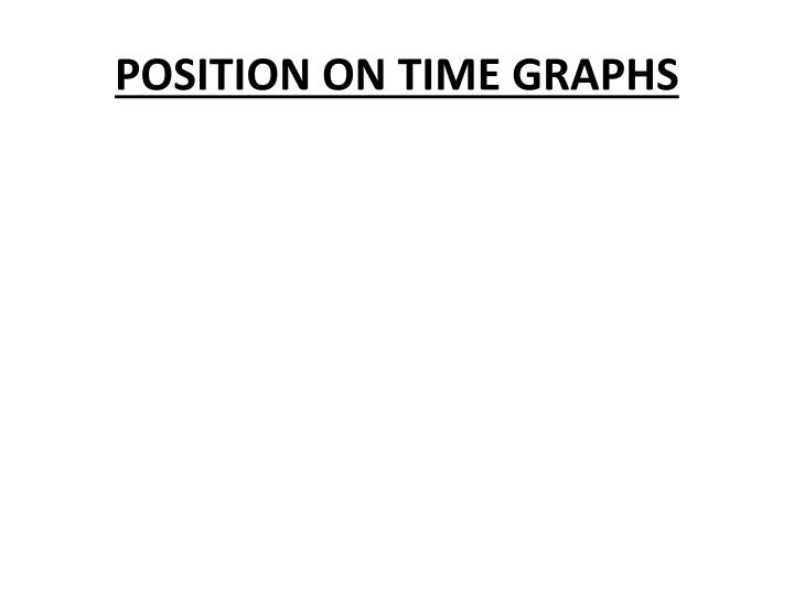 Position on time graphs