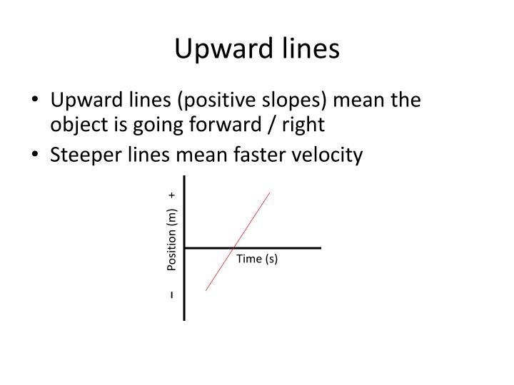 Upward lines