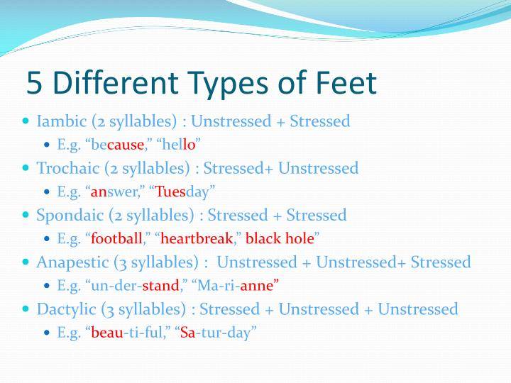 5 Different Types of Feet