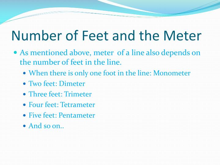 Number of Feet and the Meter