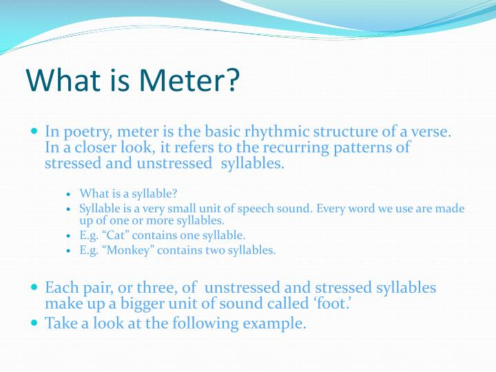 What is meter