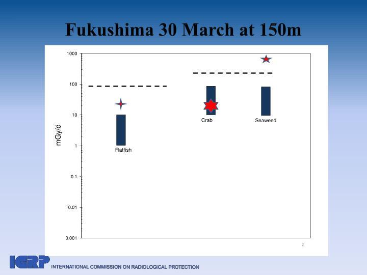 Fukushima 30 March at 150m