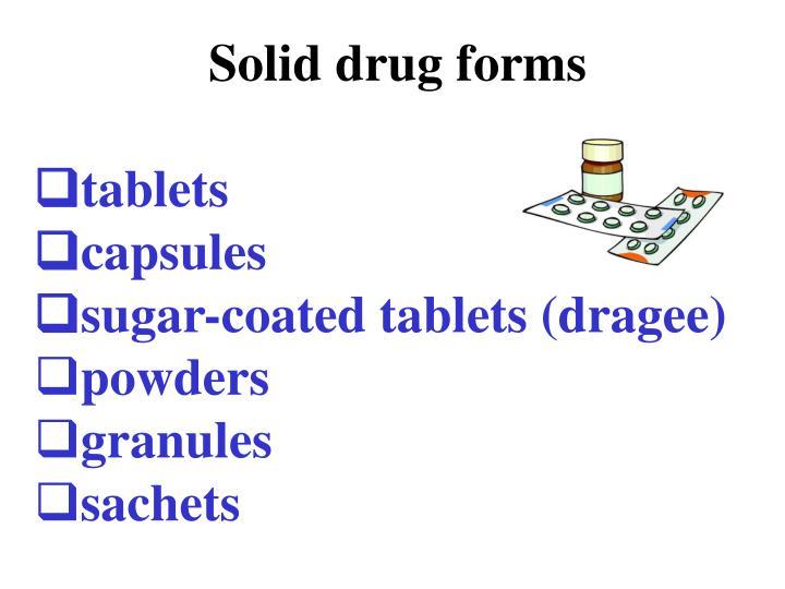Solid drug forms