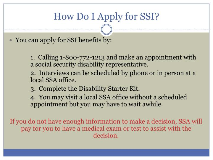 How Do I Apply for SSI?