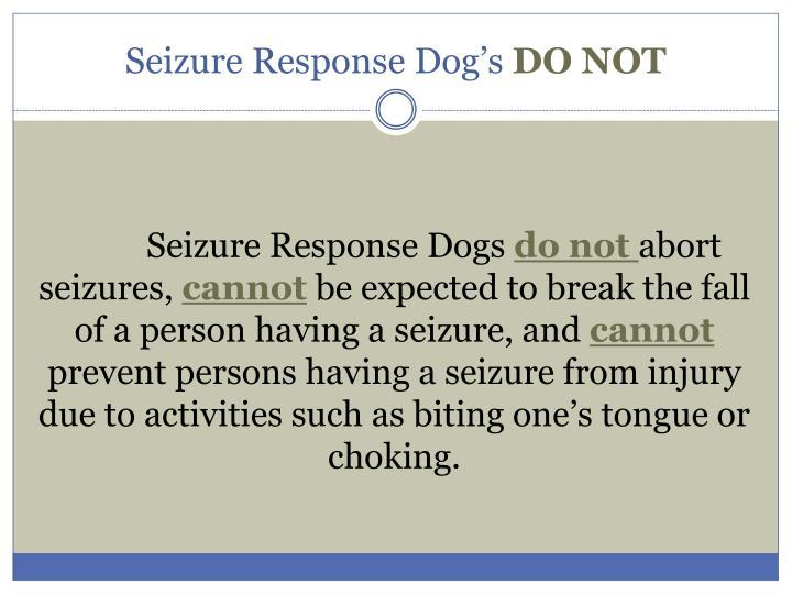 Seizure Response Dog's