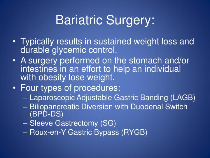 Bariatric Surgery:
