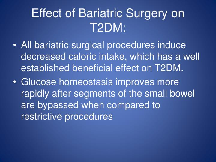 Effect of Bariatric Surgery on T2DM: