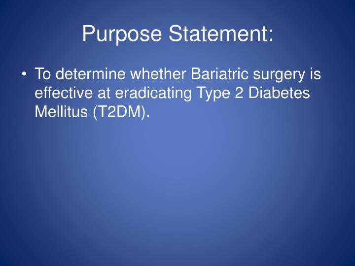 Purpose Statement: