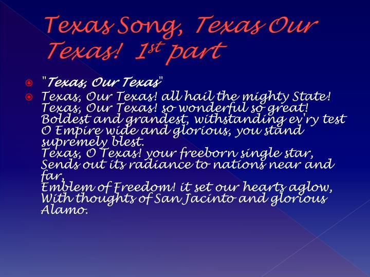 Texas Song,