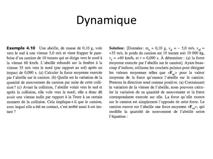 Dynamique