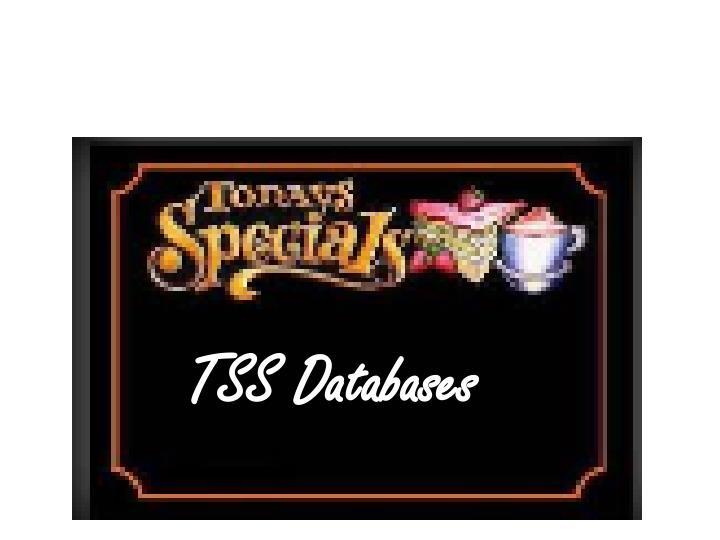 TSS Databases